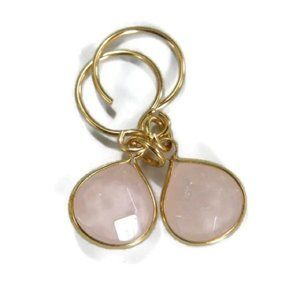 New: Rosequartz Gemstone Briolette Earrings